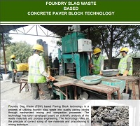 Foundry Slag Waste Based Concrete Paver Block Production